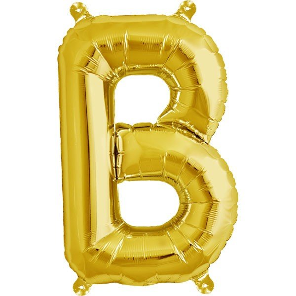 NorthStar 16 Inch Letter Balloon B Gold