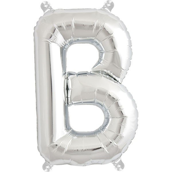 NorthStar 16 Inch Letter Balloon B Silver