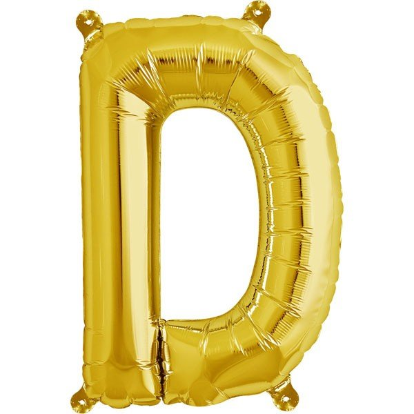 NorthStar 16 Inch Letter Balloon D Gold