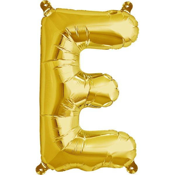 NorthStar 16 Inch Letter Balloon E Gold