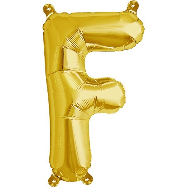 NorthStar 16 Inch Letter Balloon F Gold