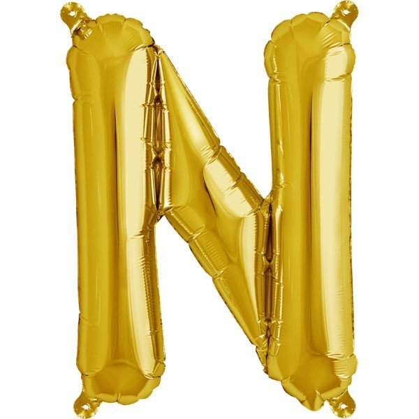 NorthStar 16 Inch Letter Balloon N Gold