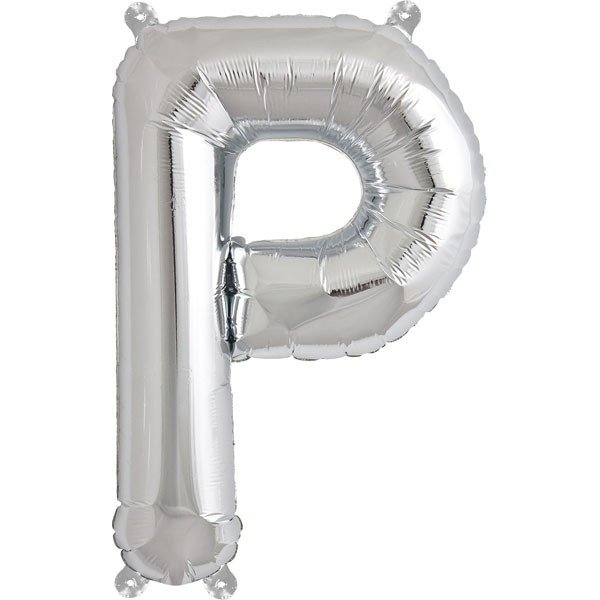 NorthStar 16 Inch Letter Balloon P Silver