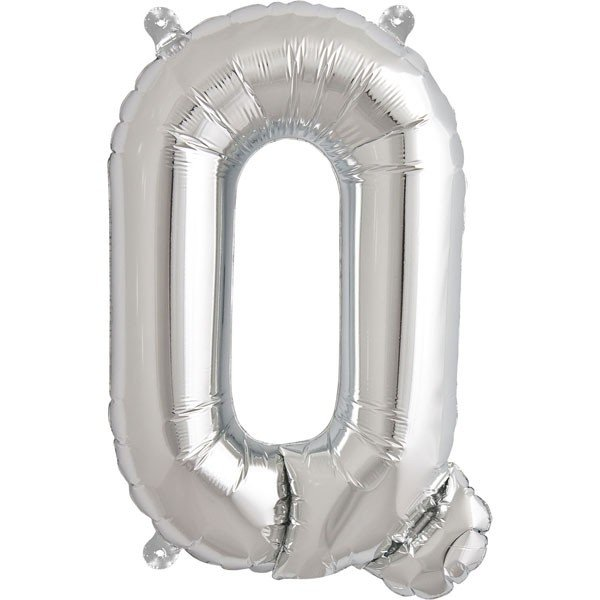 NorthStar 16 Inch Letter Balloon Q Silver