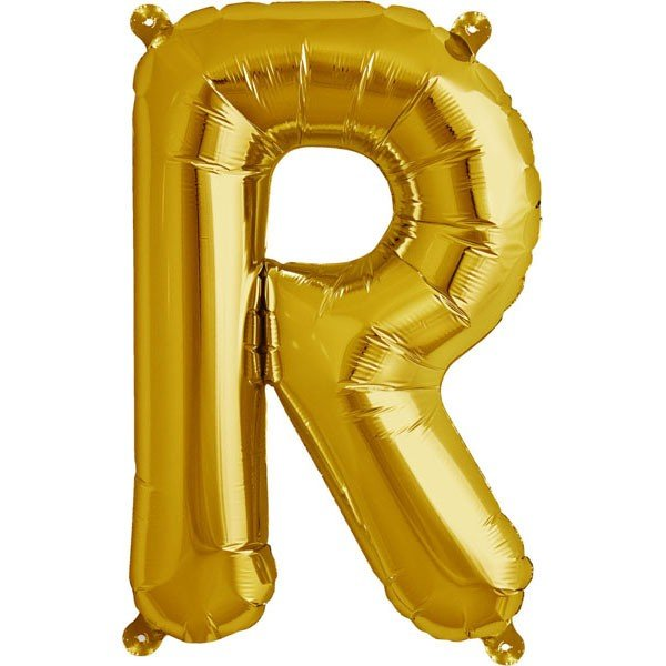NorthStar 16 Inch Letter Balloon R Gold