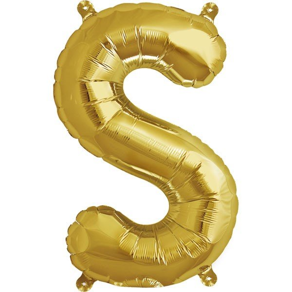 NorthStar 16 Inch Letter Balloon S Gold