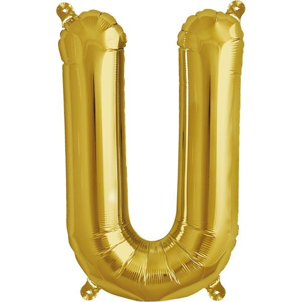 NorthStar 16 Inch Letter Balloon U Gold