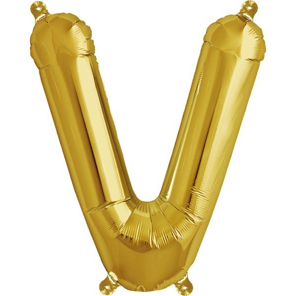 NorthStar 16 Inch Letter Balloon V Gold