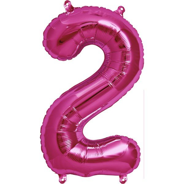 NorthStar 16 Inch Number Balloon 2 Magenta