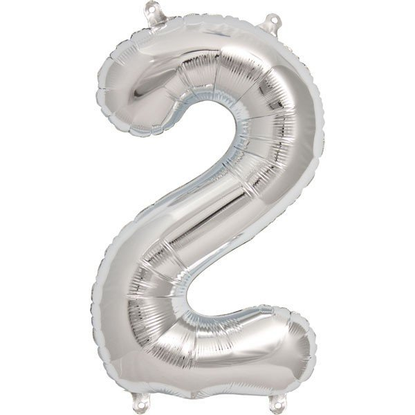 NorthStar 16 Inch Number Balloon 2 Silver