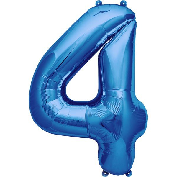 NorthStar 16 Inch Number Balloon 4 Blue