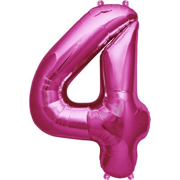 NorthStar 16 Inch Number Balloon 4 Magenta