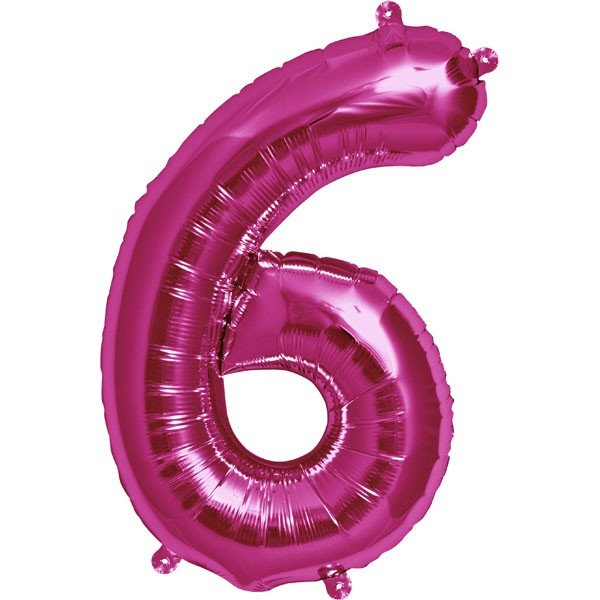 NorthStar 16 Inch Number Balloon 6 Magenta