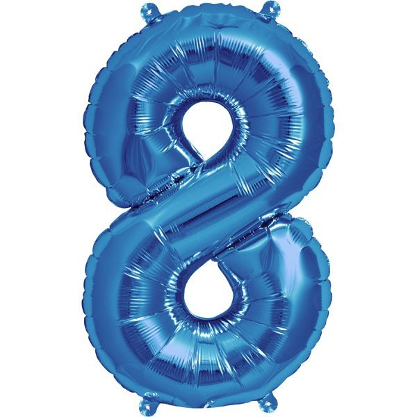 NorthStar 16 Inch Number Balloon 8 Blue