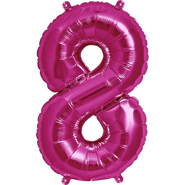 NorthStar 16 Inch Number Balloon 8 Magenta