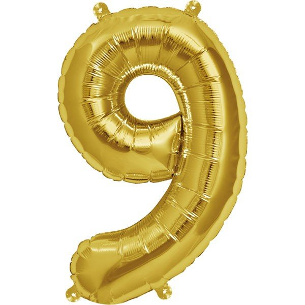 NorthStar 16 Inch Number Balloon 9 Gold