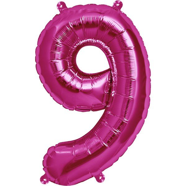 NorthStar 16 Inch Number Balloon 9 Magenta