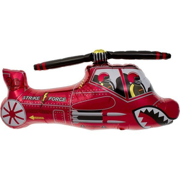 NorthStar 32 Inch Red Chopper Shaped Balloon