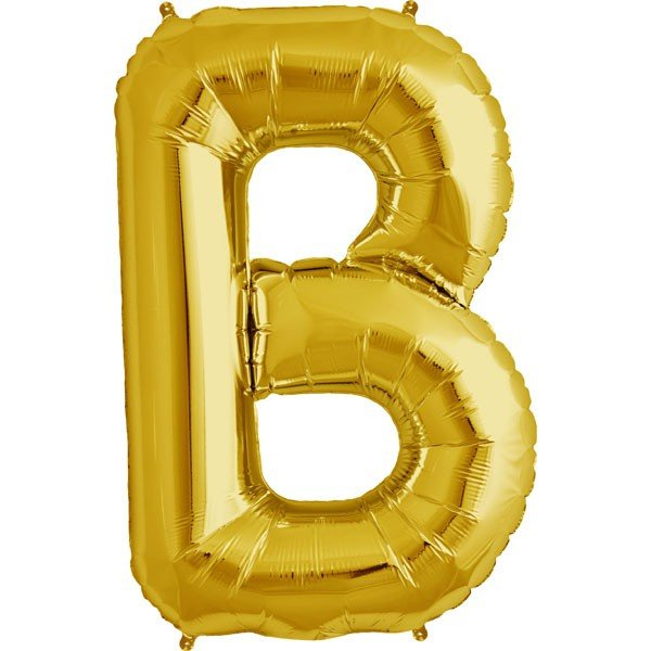 NorthStar 34 Inch Letter Balloon B Gold