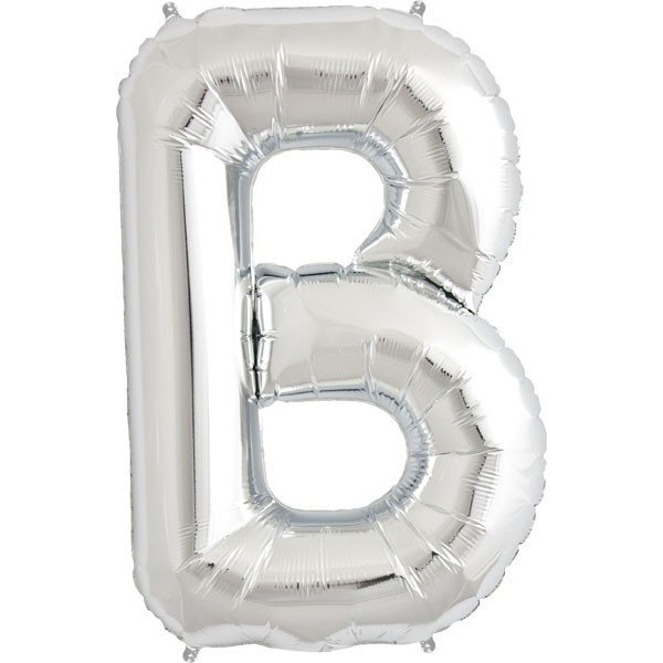 NorthStar 34 Inch Letter Balloon B Silver