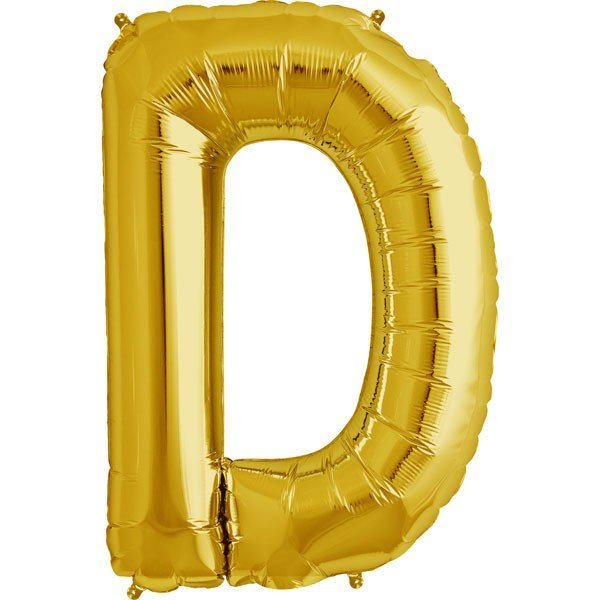NorthStar 34 Inch Letter Balloon D Gold