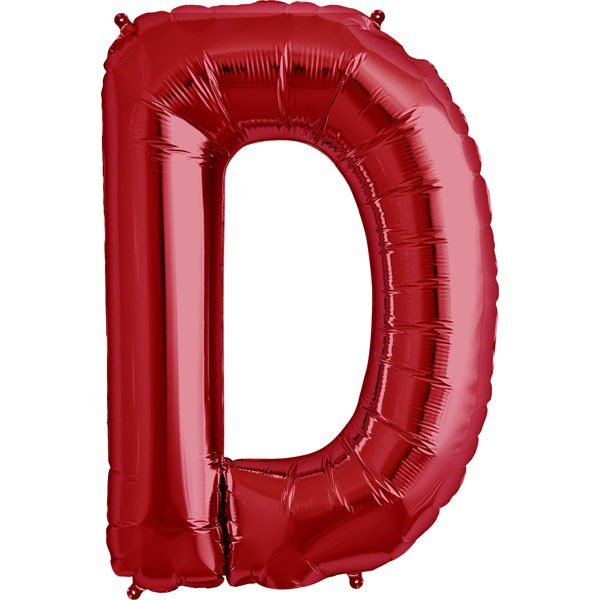 NorthStar 34 Inch Letter Balloon D Red