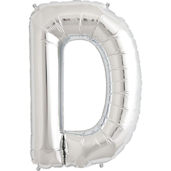 NorthStar 34 Inch Letter Balloon D Silver