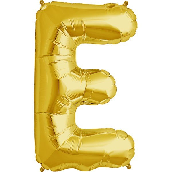 NorthStar 34 Inch Letter Balloon E Gold
