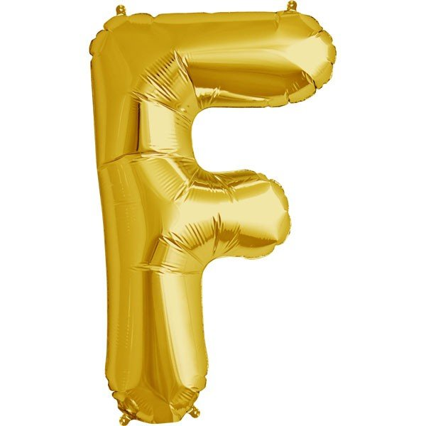 NorthStar 34 Inch Letter Balloon F Gold