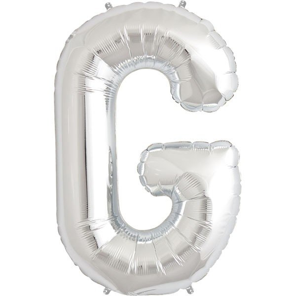 NorthStar 34 Inch Letter Balloon G Silver