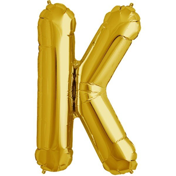 NorthStar 34 Inch Letter Balloon K Gold