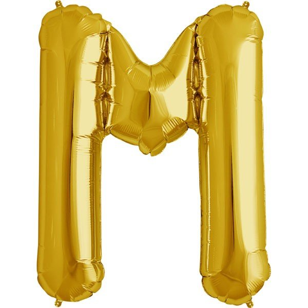 NorthStar 34 Inch Letter Balloon M Gold
