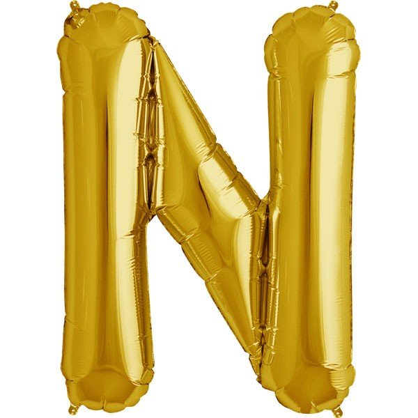 NorthStar 34 Inch Letter Balloon N Gold