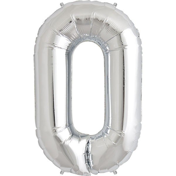 NorthStar 34 Inch Letter Balloon O Silver