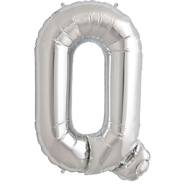 NorthStar 34 Inch Letter Balloon Q Silver
