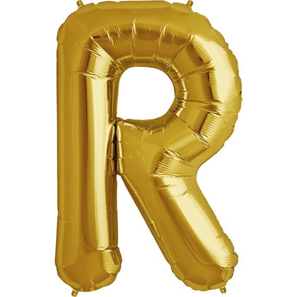 NorthStar 34 Inch Letter Balloon R Gold