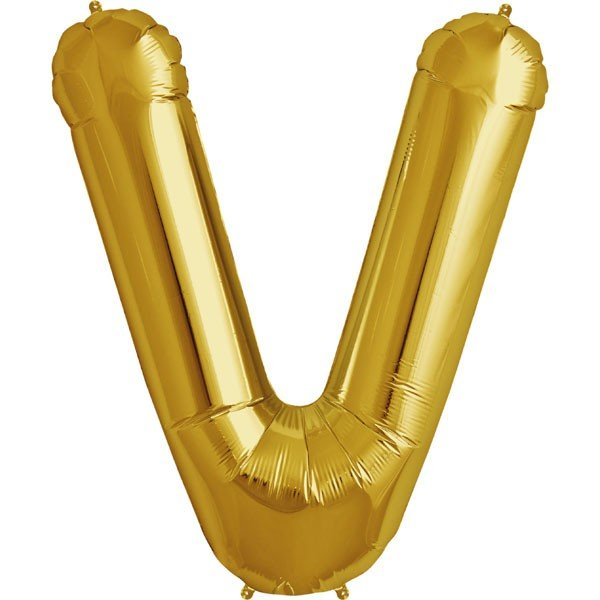 NorthStar 34 Inch Letter Balloon V Gold