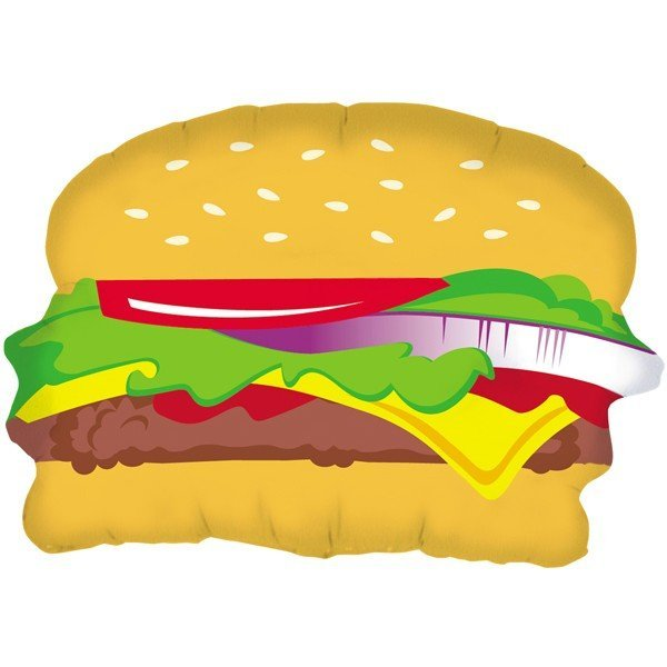 Oaktree Betallic 28 Inch Shape Hamburger Packaged
