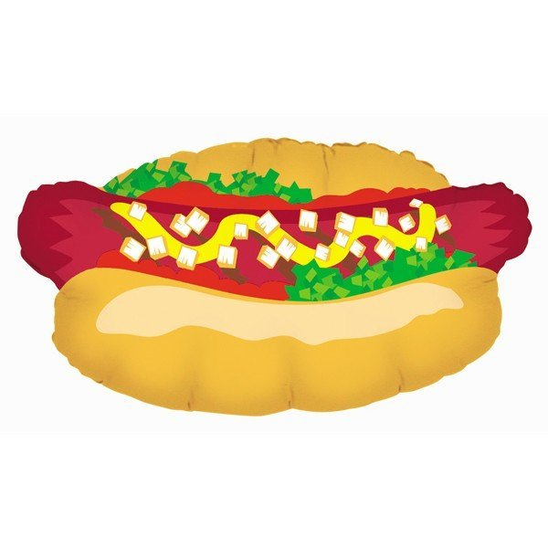 Oaktree Betallic 32 Inch Shape Hot Dog Packaged
