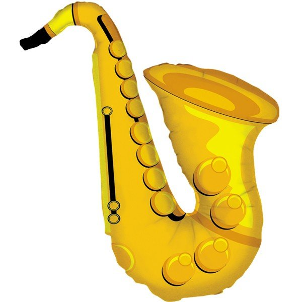 Oaktree Betallic 37 Inch Shape Sax Shape Packaged