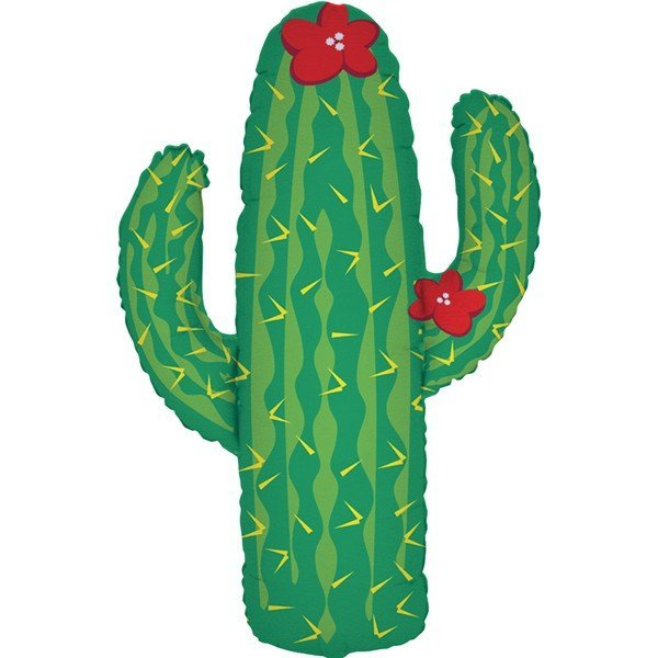 Oaktree Betallic 41 Inch Shape Cactus Packaged