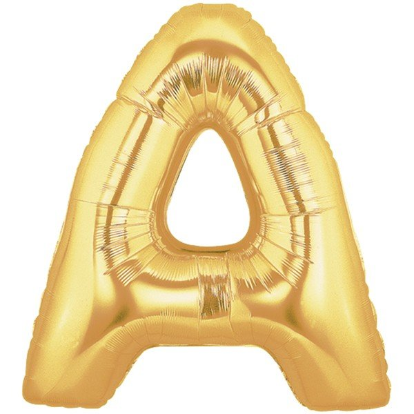 Oaktree Megaloon 40 Inch Letter A Gold