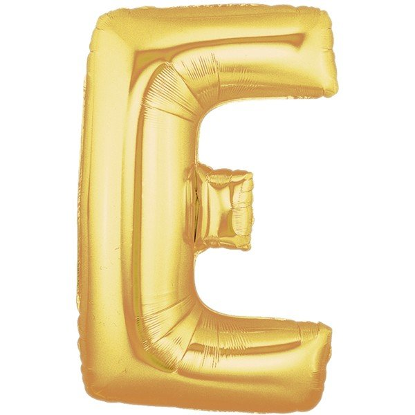 Oaktree Megaloon 40 Inch Letter E Gold