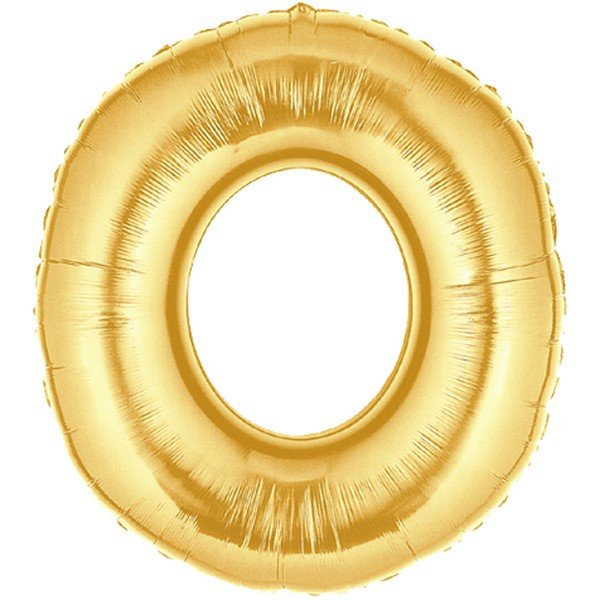 Oaktree Megaloon 40 Inch Letter O Gold
