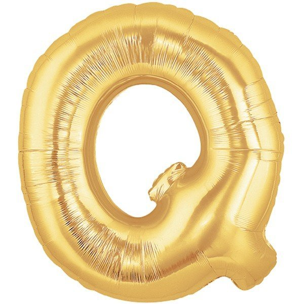 Oaktree Megaloon 40 Inch Letter Q Gold