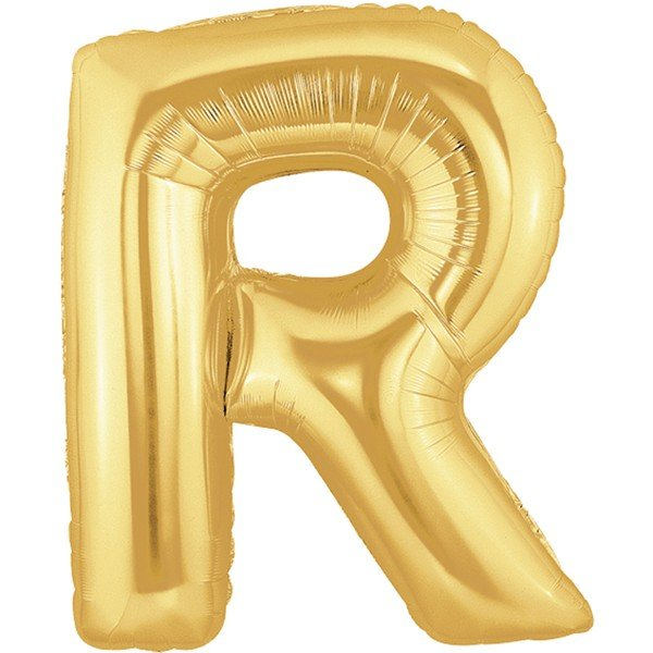Oaktree Megaloon 40 Inch Letter R Gold
