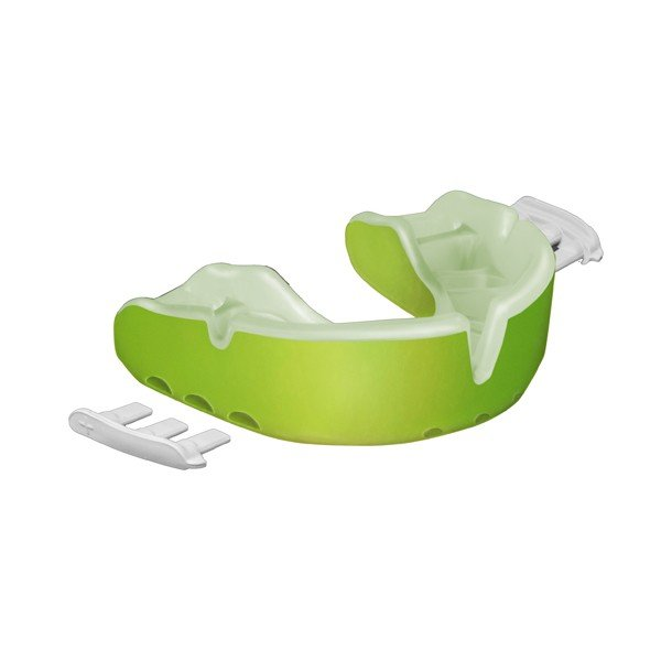 Opro Shield Adult Gold Mouthguard - Green / Pearl