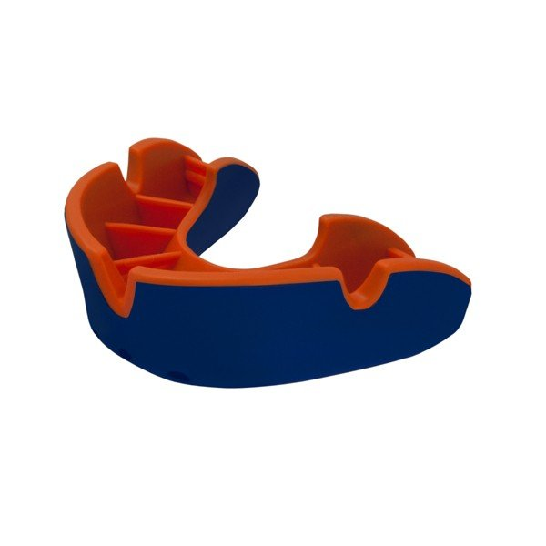 Opro Shield Junior Silver Mouthguard - Blue / Orange