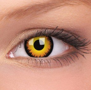 Orange Werewolf Crazy Colour Contact Lenses (1 Year Wear)