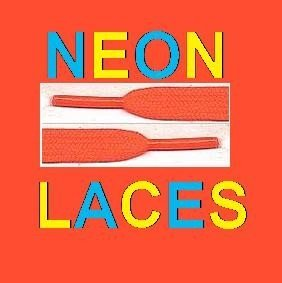 New Orange Neon Laces For Shoes, Boots, Pumps & clubing